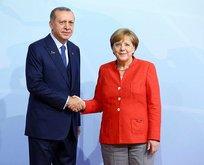 Başkan Erdoğan, Merkel ile görüştü
