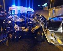 Yenibosna'da feci kaza: 5 yaralı
