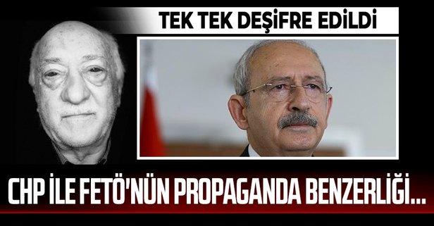 CHP ile FETÖ'nün propaganda benzerliği...