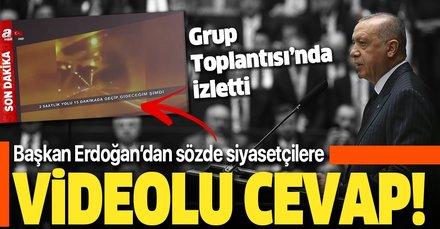 Son dakika: Başkan Erdoğan'dan sözde siyasetçilere videolu yanıt