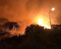 Antalya'da alevler geceyi aydınlattı!