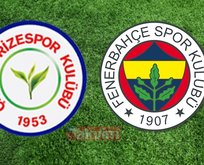 Çaykur Rizespor Fenerbahçe maçı hangi kanalda?