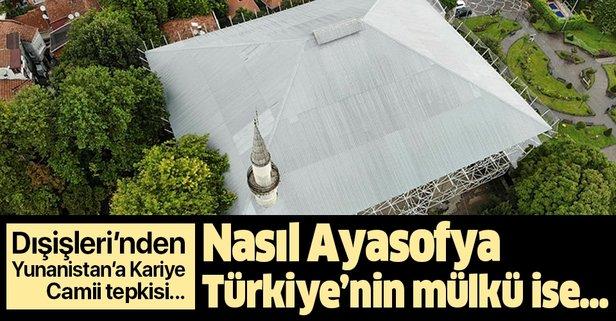 Dışişleri'nden Yunanistan'a Kariye Camii tepkisi