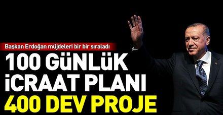 Son dakika: Başkan Erdoğan 100 günlük eylem planını açıkladı
