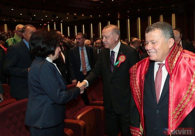 Adli Yıl Açılış Töreni´nde dikkat çeken kare! Başkan Erdoğan...