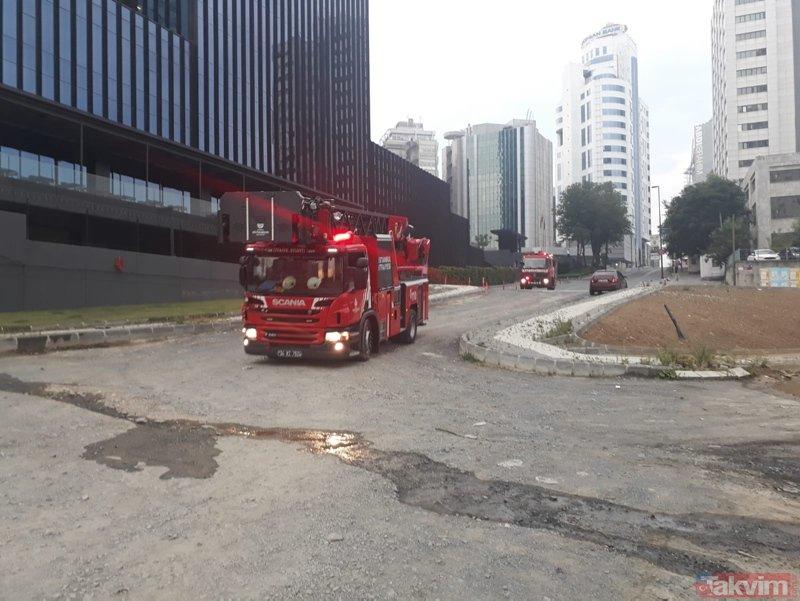 İstanbul Maslakta gökdelen yangını