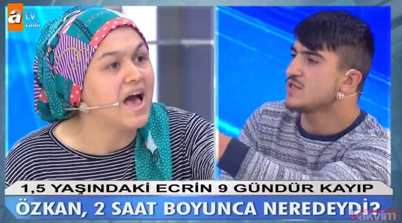 Müge Anlı canlı yayınında son dakika gelişmesi! Stüdyoda olay çıktı! Ecrin Kurnaz'ın annesiyle üvey amcası birbirine girdi!