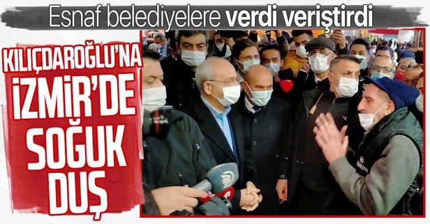 Kılıçdaroğlu'na esnaftan bozuk yol tepkisi