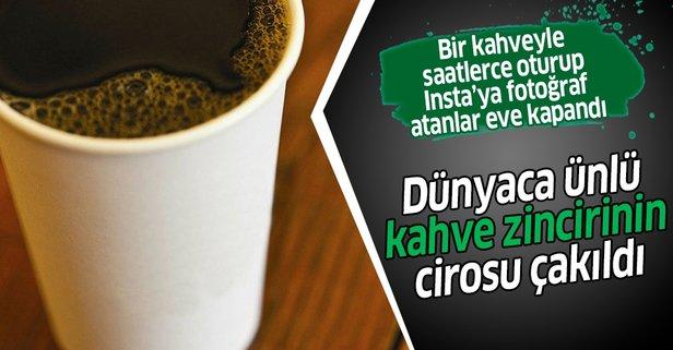 Korona dünyaca ünlü kahve zincirini vurdu! Cirosu düştü