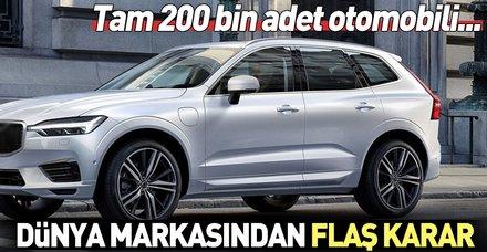 Volvo'dan flaş karar! 200 bin otomobili geri çağırdı...