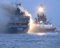 İstanbul'da yük gemisinde yangın