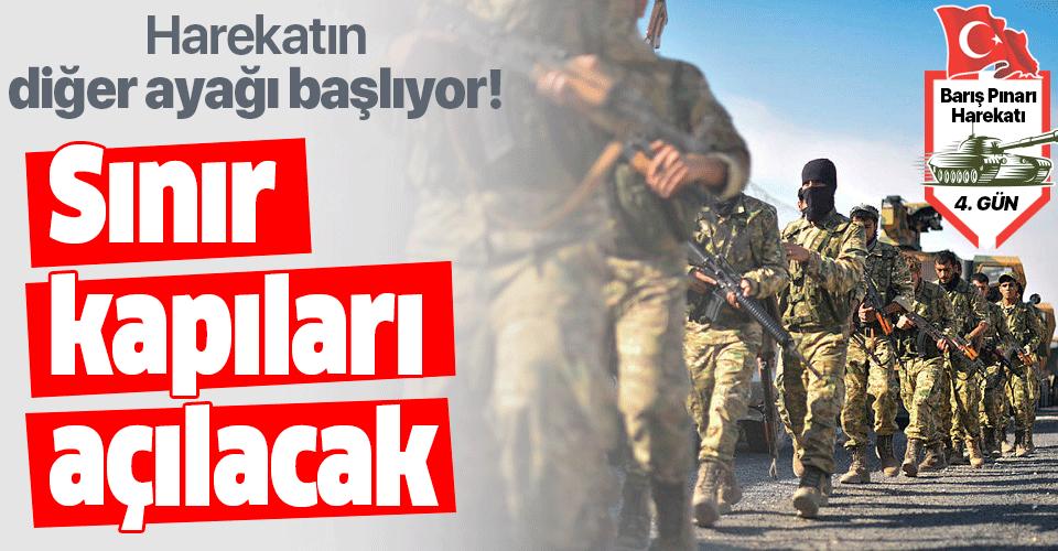 Barış Pınarı Harekatı'nın diğer ayağı başlıyor! Sınır kapıları açılacak
