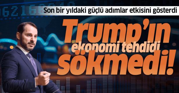 Trump'ın ekonomi tehdidi sökmedi