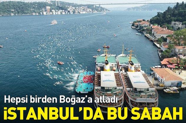 İstanbul Boğazındaki yarış nefes kesti