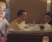 Hande Erçel duştan paylaşım yapmaya alıştı