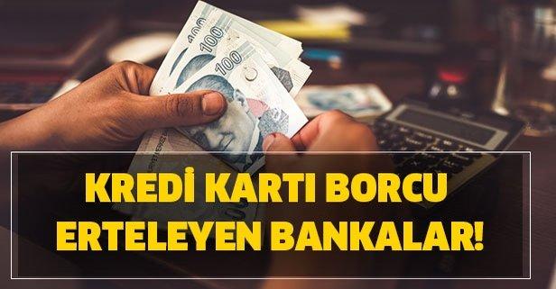 BDDK'dan kart borcu olanlara müjde! Kredi kartı borçları ertelendi mi?