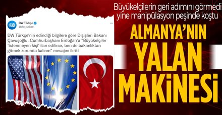 DW Türkçe'den büyük manipülasyon
