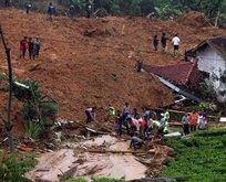 Endonezya'da heyelan felaketi