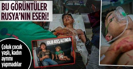 Rusya, İdlib'e saldırdı! Yaralılar var...
