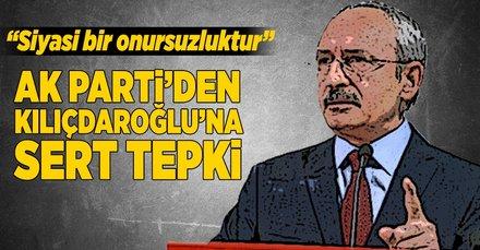AK Parti'den Kılıçdaroğlu'na çok sert tepki!