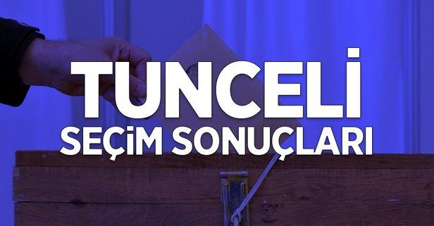 31 Mart Tunceli yerel seçim sonuçları!
