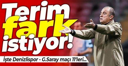 İşte Denizlispor - Galatasaray maçının 11'leri...