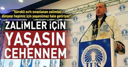 Cumhurbaşkanı Erdoğan Bosna Hersek'te konuştu