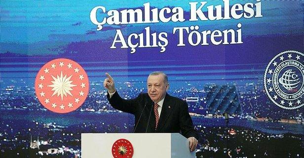 Başkan Erdoğan'dan Çamlıca Kulesi paylaşımı