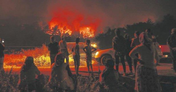 İzmir'i korkutan yangın
