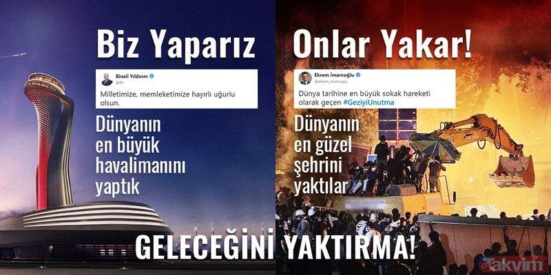 AK Parti yapar CHP yıkar! İşte İmamoğlu'nun yıkan tarafta olduğunu kanıtlayan tweetler