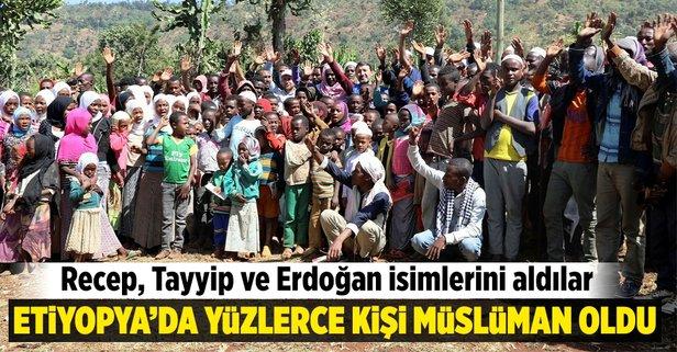Müslüman olup, Recep, Tayyip ve Erdoğan isimlerini aldılar