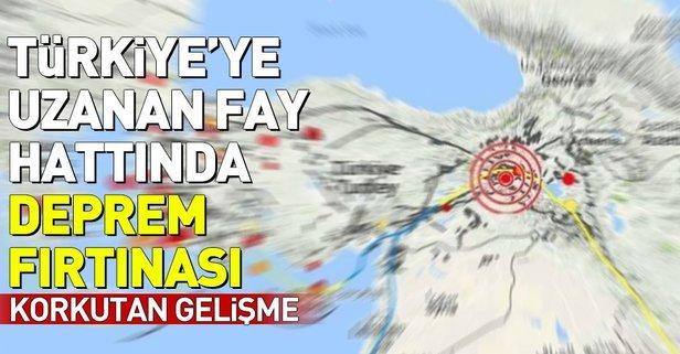 Türkiyeye uzanan fay hattında üst üste şiddetli depremler