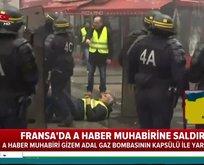 Fransız polisinden  A Haber muhabirine saldırı