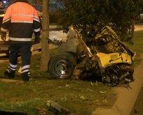 Gece yarısı korkunç kaza!