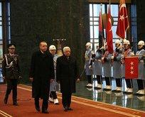 Erdoğan Mahmud Abbas ile görüştü