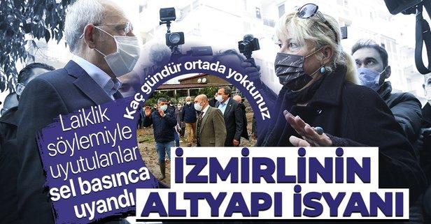 İzmir'de esnaftan Kılıçdaroğlu'na altyapı tepkisi