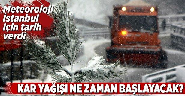 Meteoroloji İstanbul için tarih verdi! Kar ne zaman yağacak?