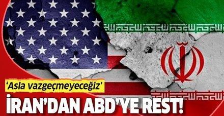 Son dakika haberi: İran'dan ABD'ye rest: Nükleer silah politikamızdan asla vazgeçmeyeceğiz