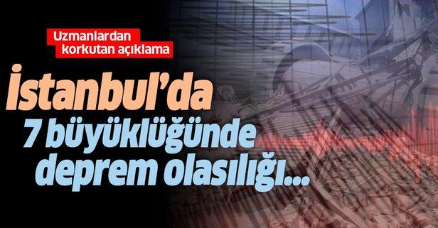 İstanbul'da 7 büyüklüğünde deprem olma olasılığı...