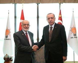 Başkan Erdoğan, Karamollaoğlu ile görüştü