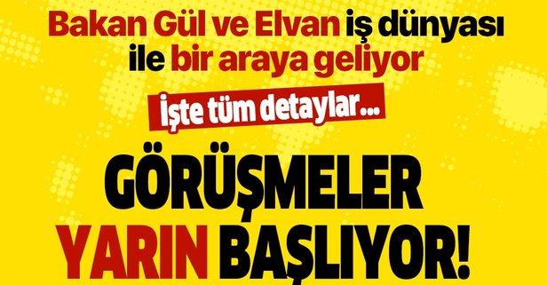 Bakan Elvan ve Gül iş dünyası ile görüşecek