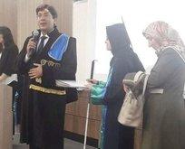 Sakarya Üniversitesi mezuniyet töreninde duygu dolu anlar
