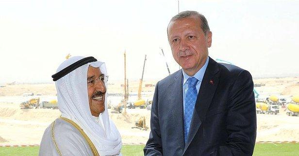 Başkan Erdoğan Kuveyt Emiri ile görüştü