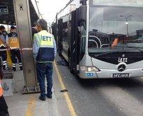 Metrobüs yolunda kaza! 1 çocuk hayatını kaybetti