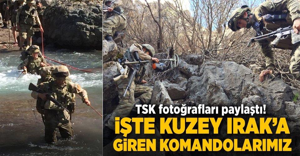 TSK fotoğrafları paylaştı! İşte Kuzey Iraktaki Türk komandoları...