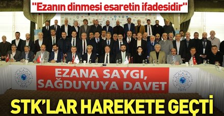 """Türkiye Gönüllü Teşekküller Vakfı'ndan """"Ezana saygı, sağduyuya davet"""""""