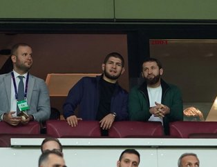 Khabib Nurmagomedov'dan Galatasaray'a sürpriz destek! Real Madrid maçını tribünden takip etti...