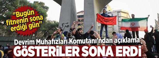 Devrim Muhafızları Komutanı: Gösteriler sona erdi