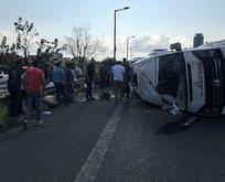 İstanbulda feci kaza! Çok sayıda yaralı var