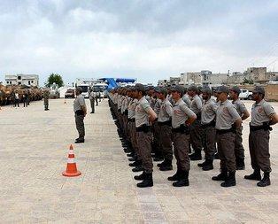 Türkiyenin eğittiği Azezli polisler göreve hazır
